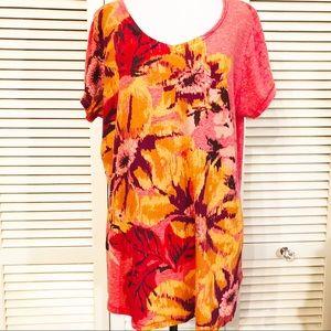 Lucky   Floral Burst Shirt Sleeve Blouse